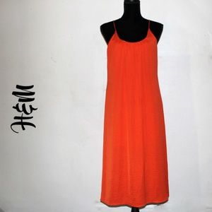 H&M Size 8 Orange Beach Spaghetti Strap Sundress
